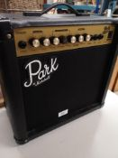 Park by Marshall G15 cd amplifier.