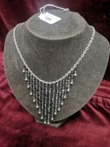 Stunning silver 925 art deco necklace.