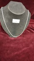 Heavy silver Hall marked 24 inch rope chain.