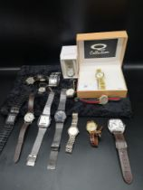 Lot of watches to include accurist etc.