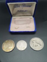 3 collectable coins includes the silver jubilee year of 1935 coin,cornationncoin dated 1937 together