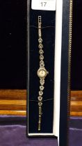 Ladies Vintage Accurist Silver Hallmarked Marcasite Cocktail Watch