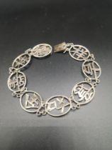 Hong Kong Oriental silver character bracelet.
