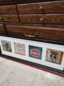 Framed set of 4 sex pistols record In the fitted framing.