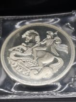 Silver 1936 George and the dragon coin sealed.