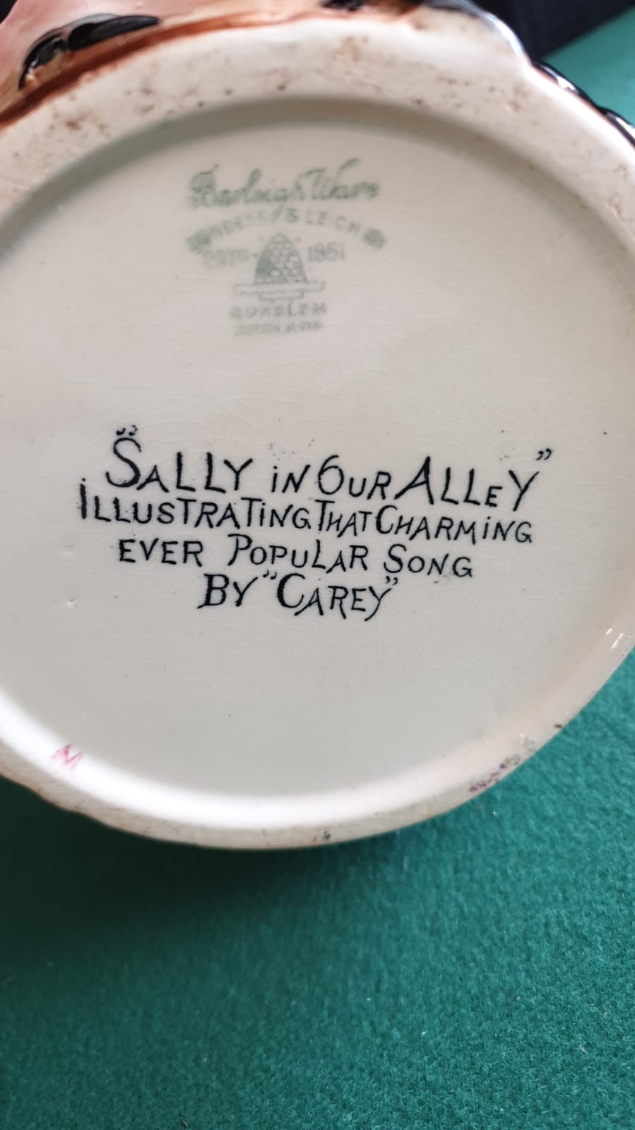 Large Burleigh Ware Sally In Our Alley Water Jug Height 25cm - Image 2 of 2