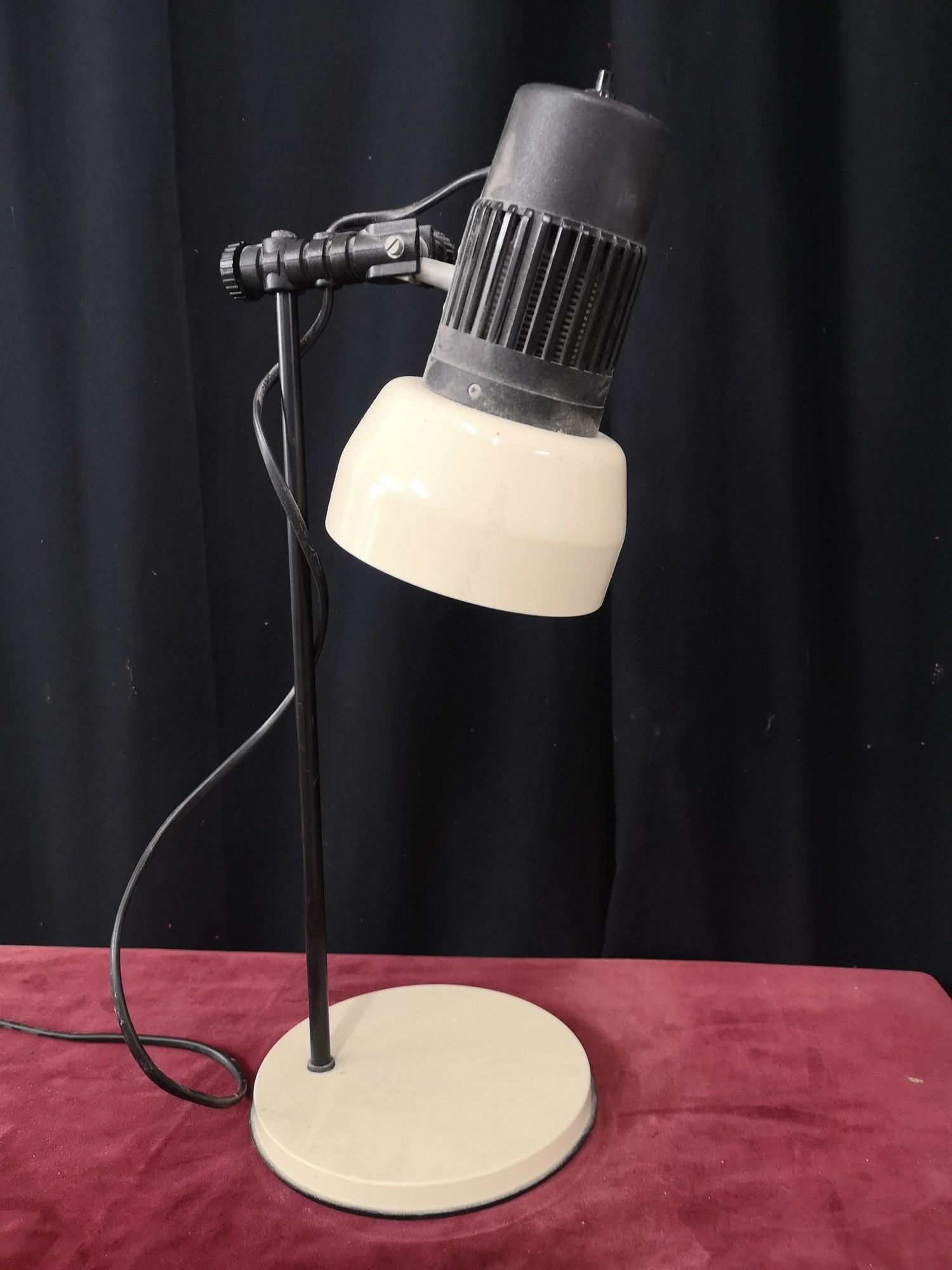 Retro 1970s angle poiste table lamp.