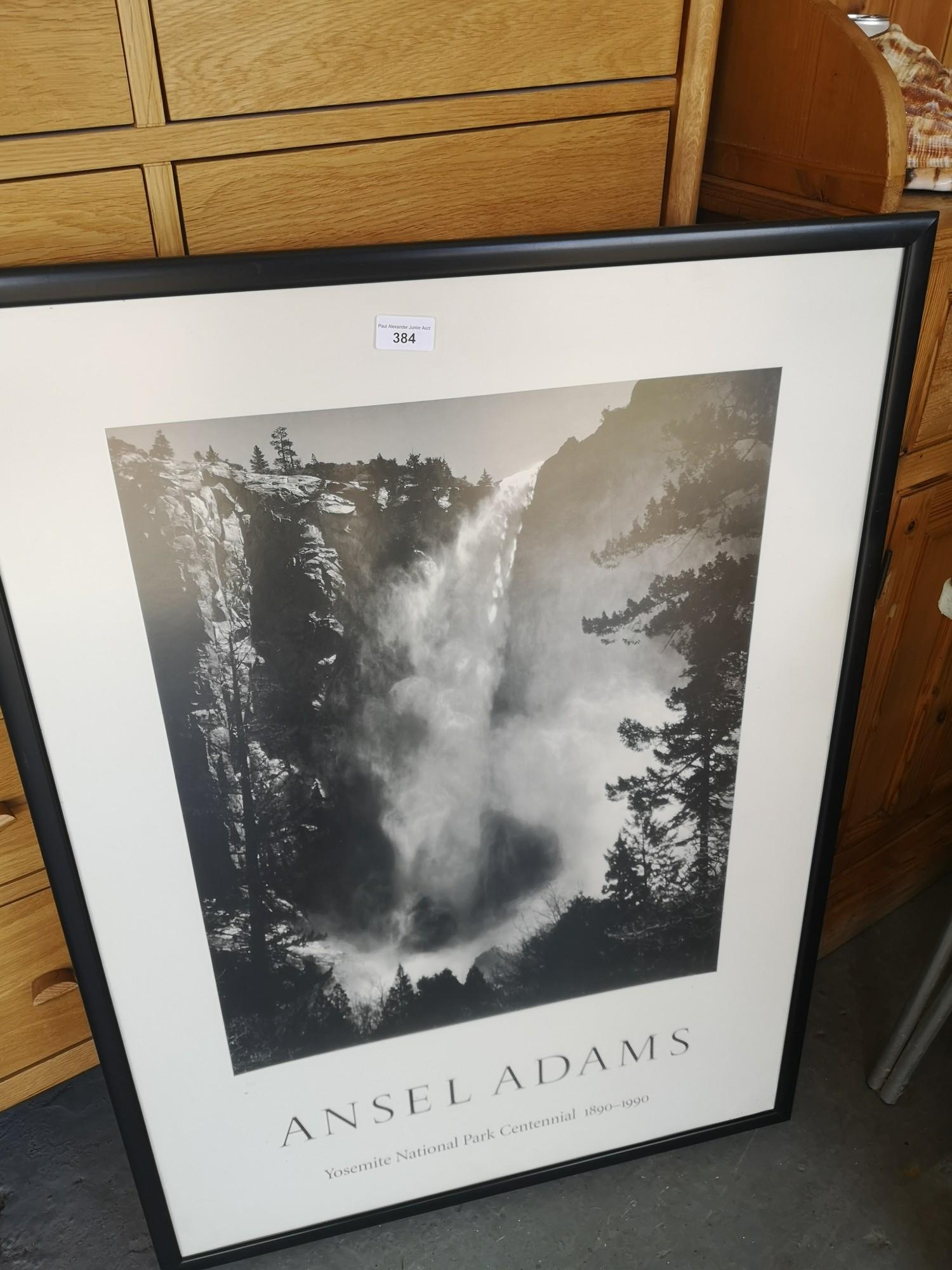 Ansel Adams print in frame. - Image 2 of 2