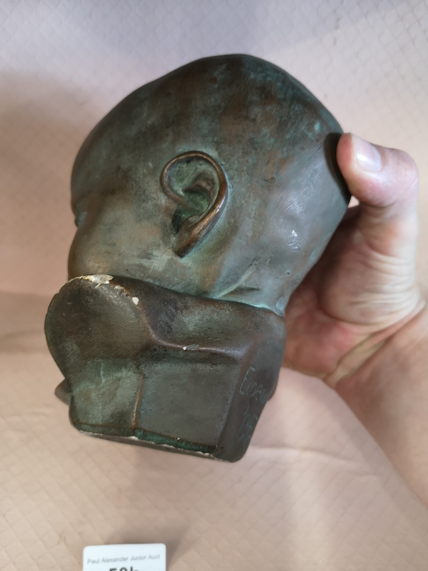 Eigendorn signed sculpture head with GFU intials. - Image 5 of 5