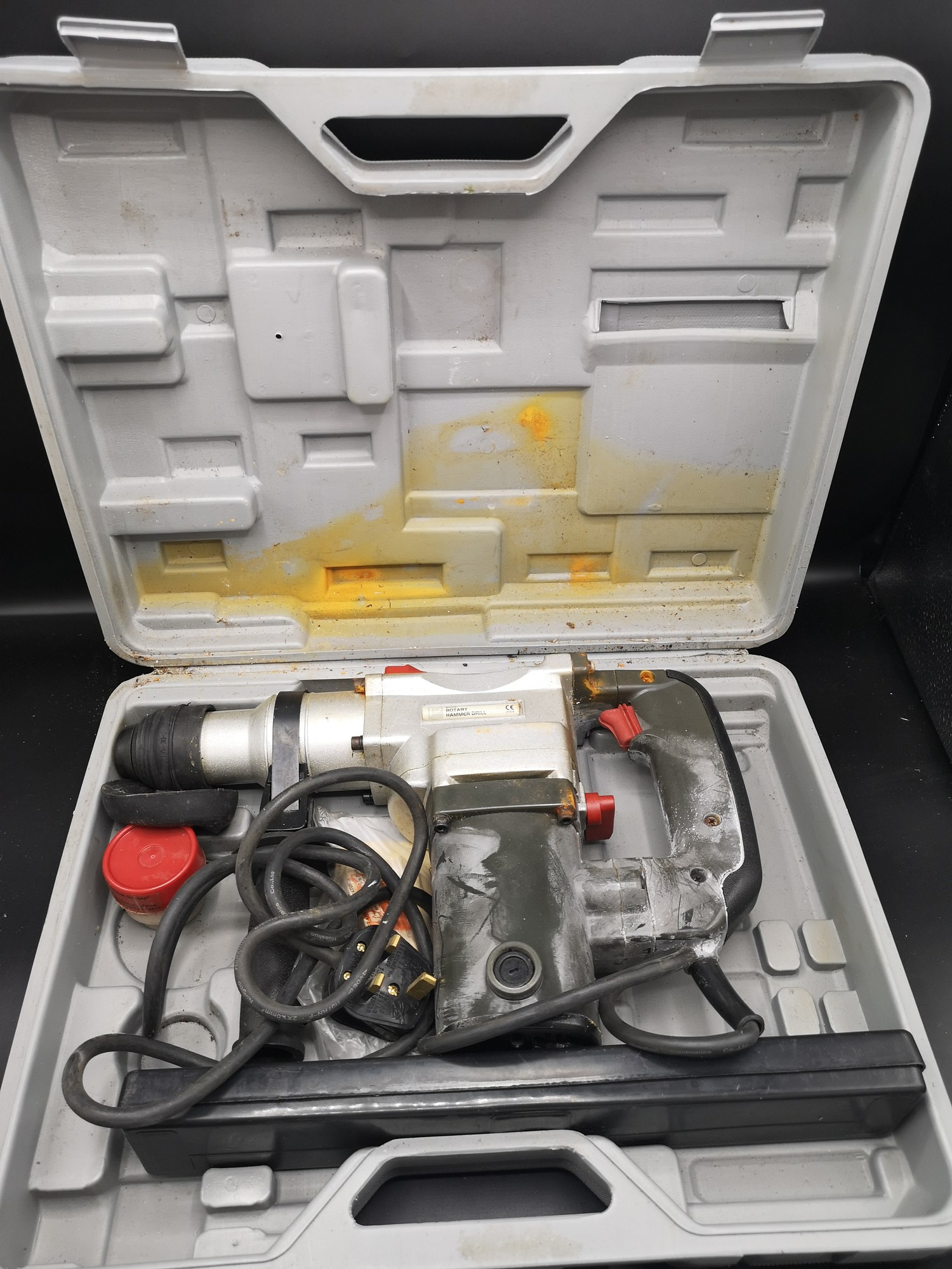Pro rotary hammer drill in fitted case.