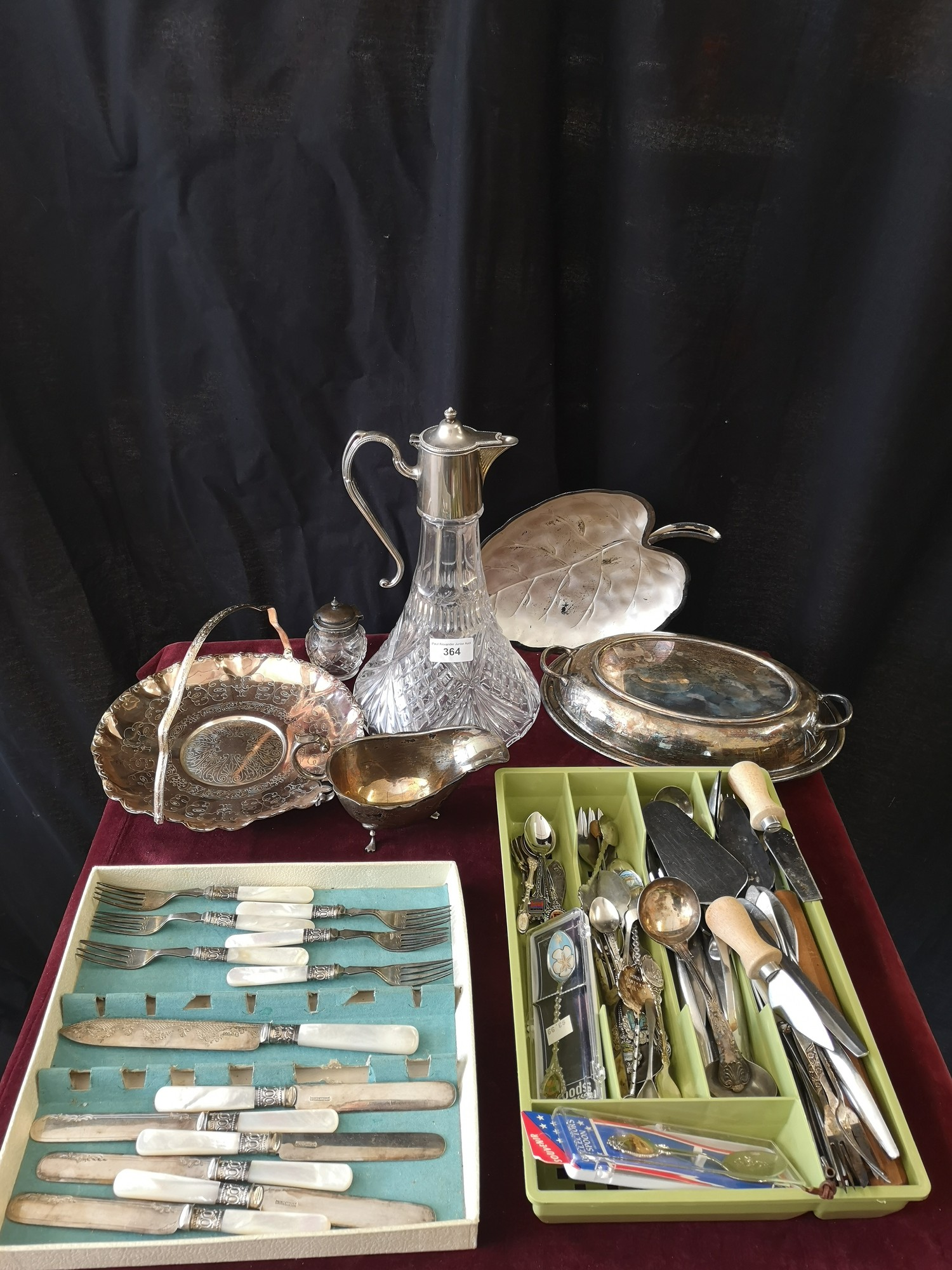 Lot of Silver plated wares includes cutlery, silver plated tureen etc.