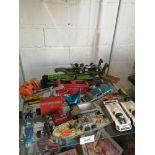 Shelf of playworn vehicles etc.