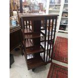 Large Edwardian revolving bookcase.