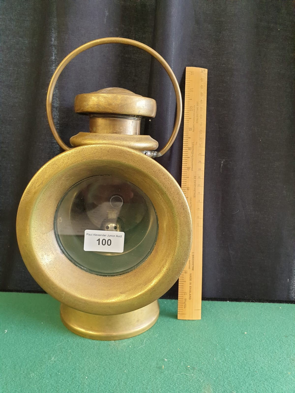 Large Lucas King Of The Road Vintage Motor Car Side Oil Lamp No 724 Height 32cms