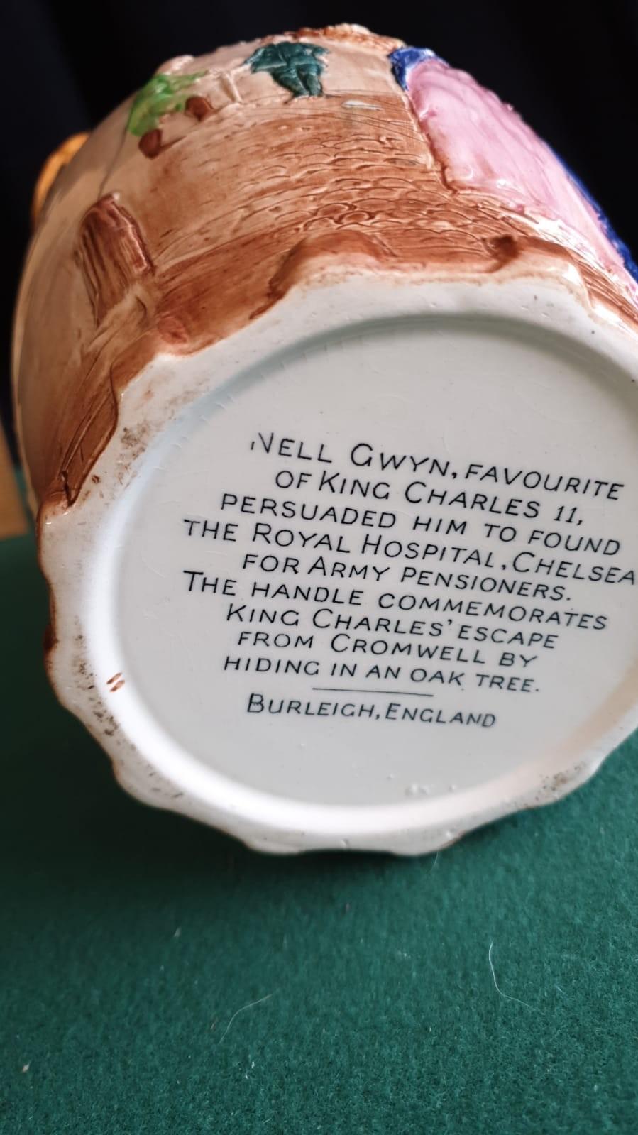 Burleigh Ware Large Nell Gwyn Water Jug. - Image 4 of 4