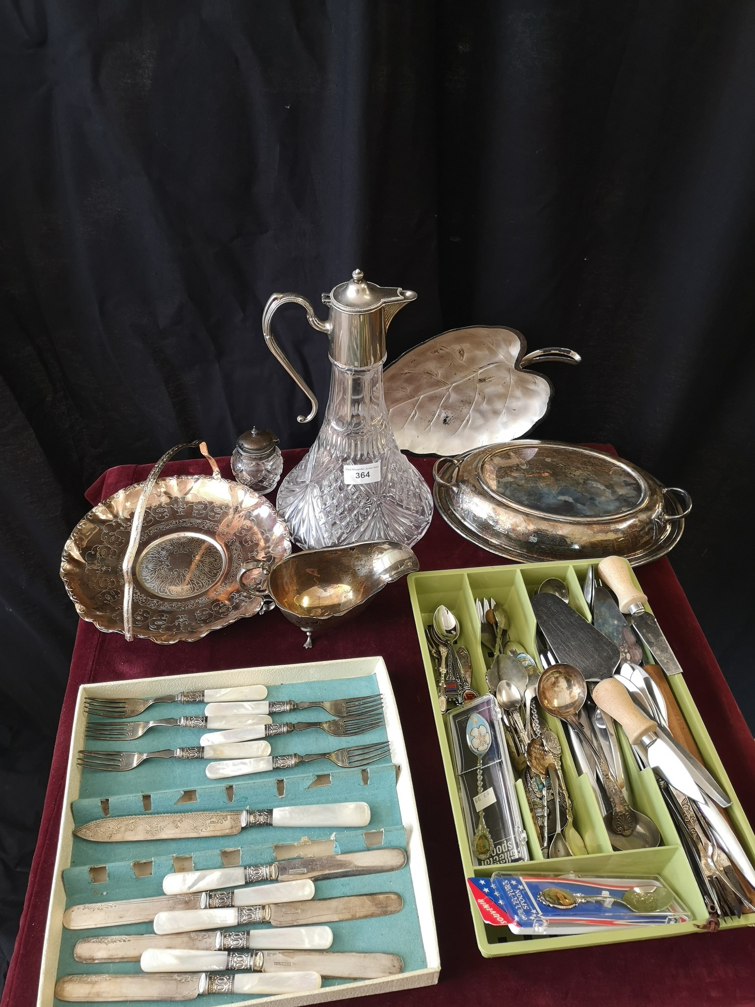 Lot of Silver plated wares includes cutlery, silver plated tureen etc. - Image 2 of 2