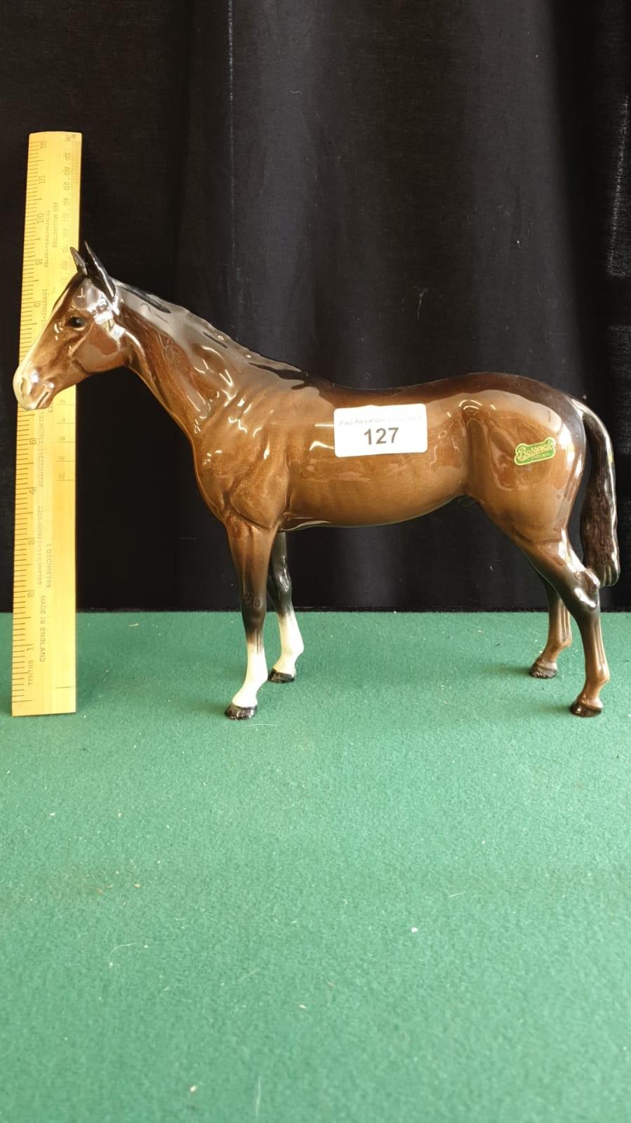 Large Beswick Thoroughbred Race Horse. - Image 2 of 2