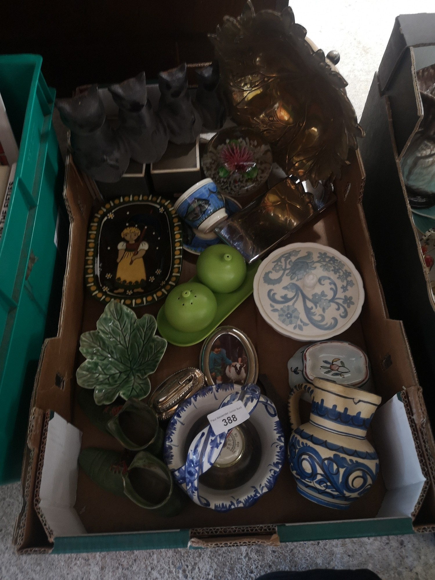 Box of collectables.