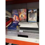 Toshiba dvd /video combination player together with videos Includes lady and tramp..