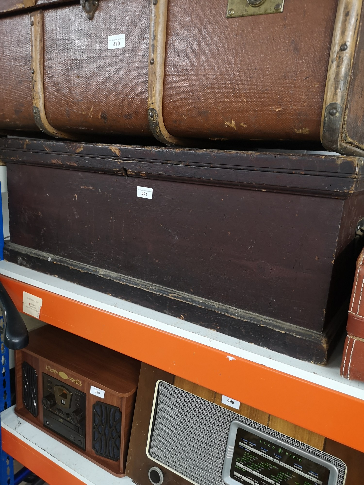 Large joiners vintage tool trunk..