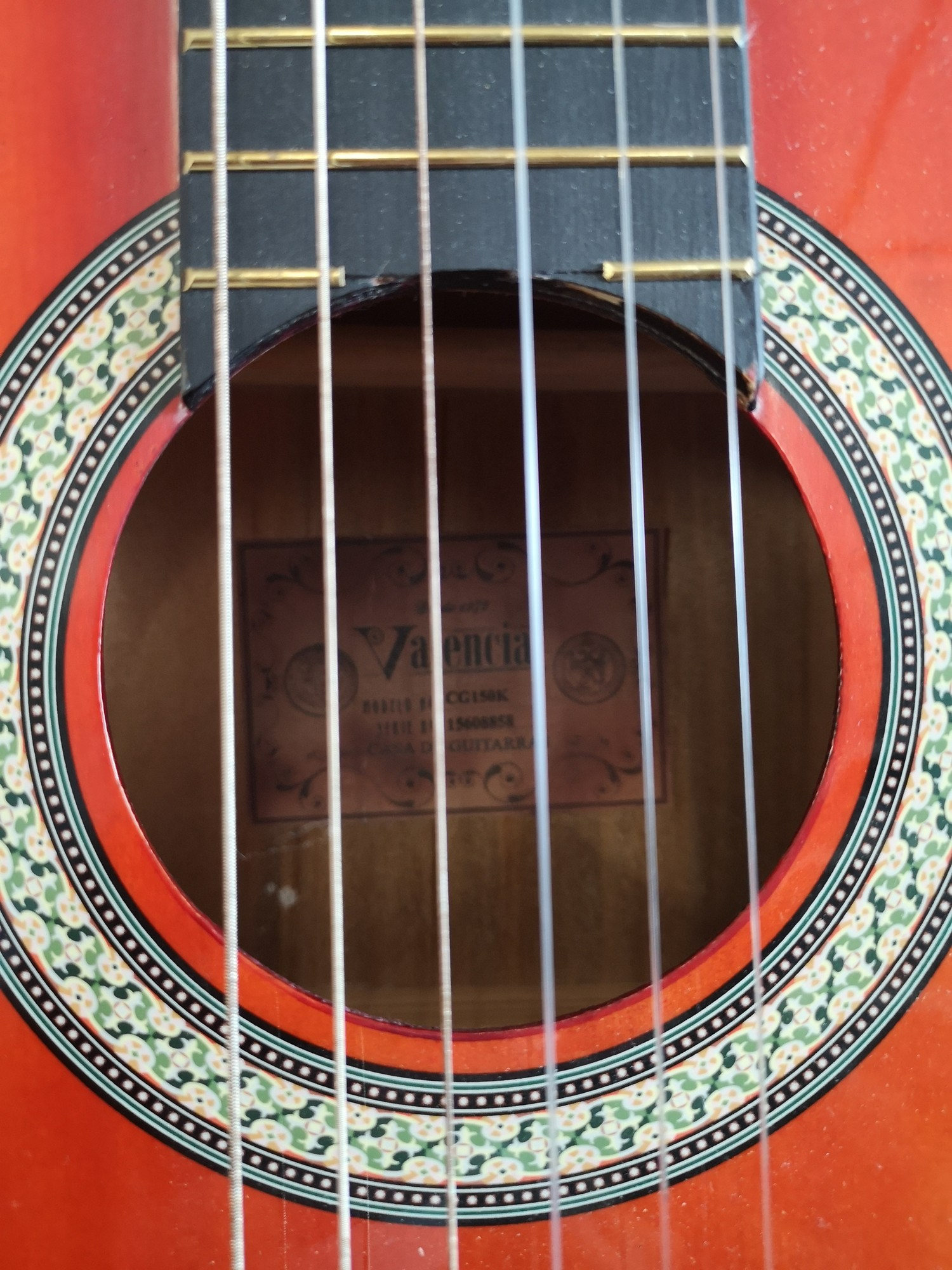 Valencia acoustic guitar. - Image 2 of 2