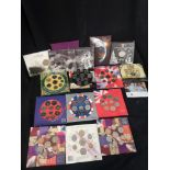 Large of collection British proof coins etc.