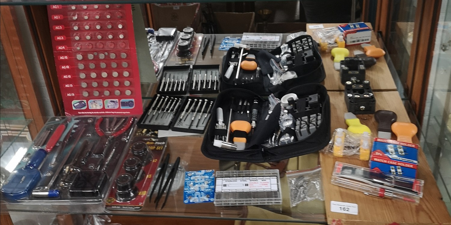 Lot of watch makers tools etc.