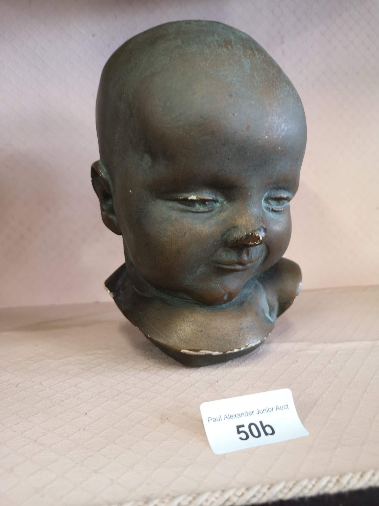 Eigendorn signed sculpture head with GFU intials. - Image 2 of 5