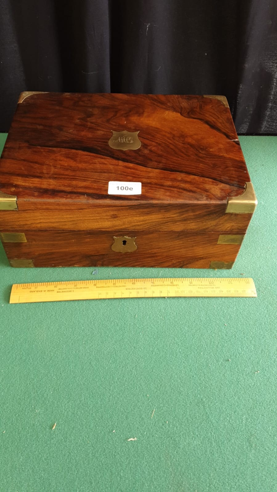 Victorian Writing Box With Fitted Interior To Include Ink Well