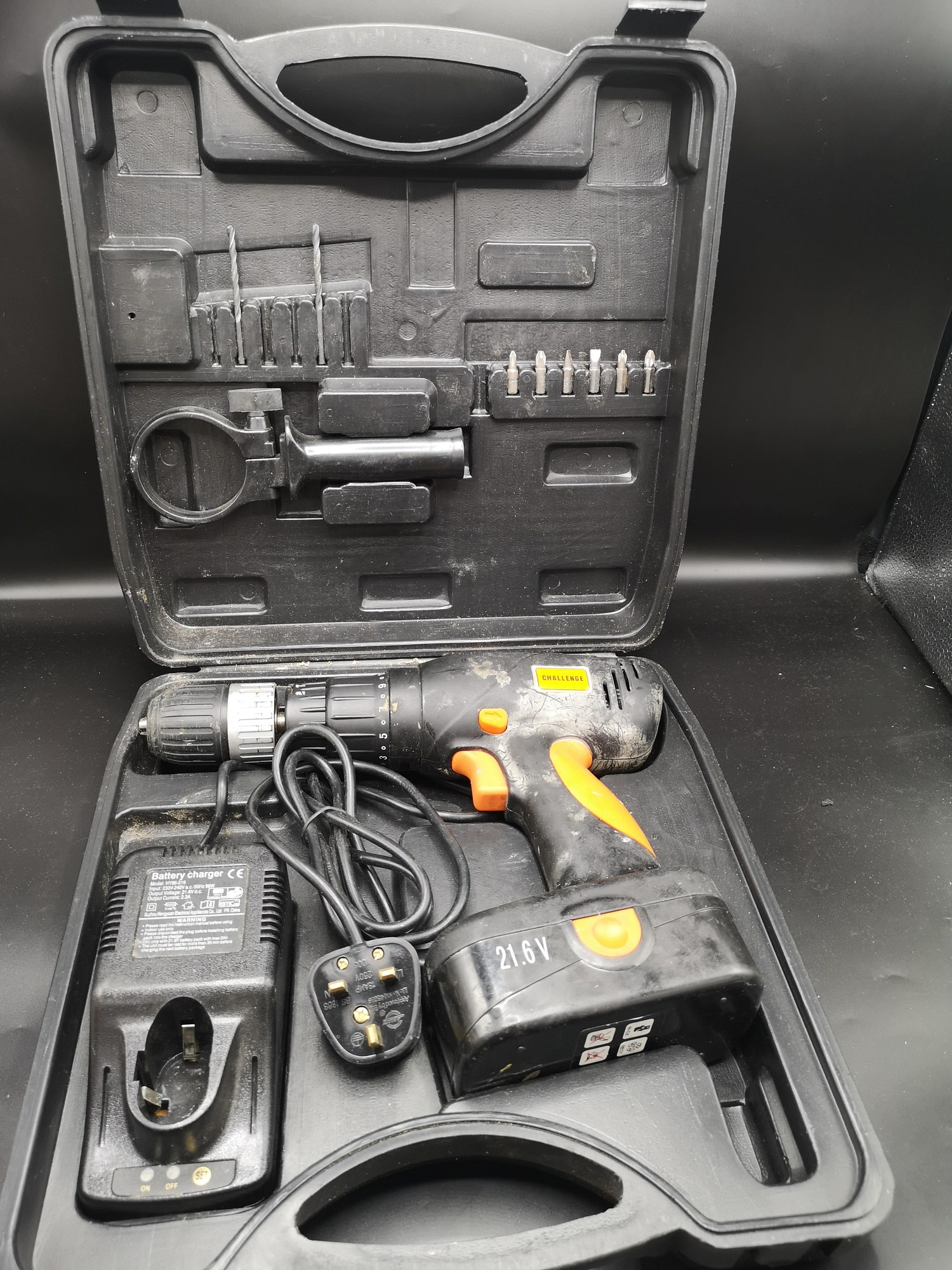 Power challenge drill boxed.