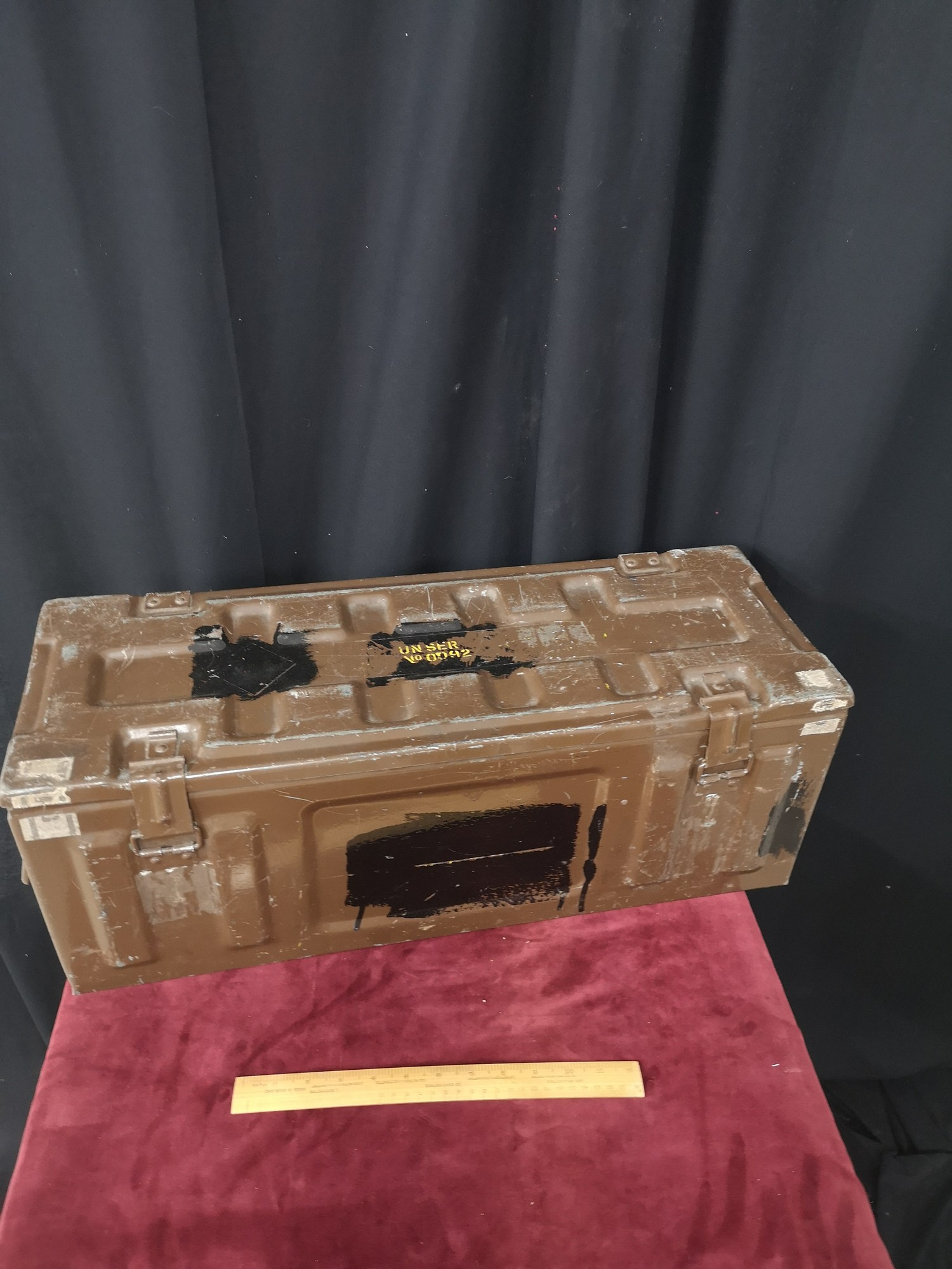 Military style ammo metal case.