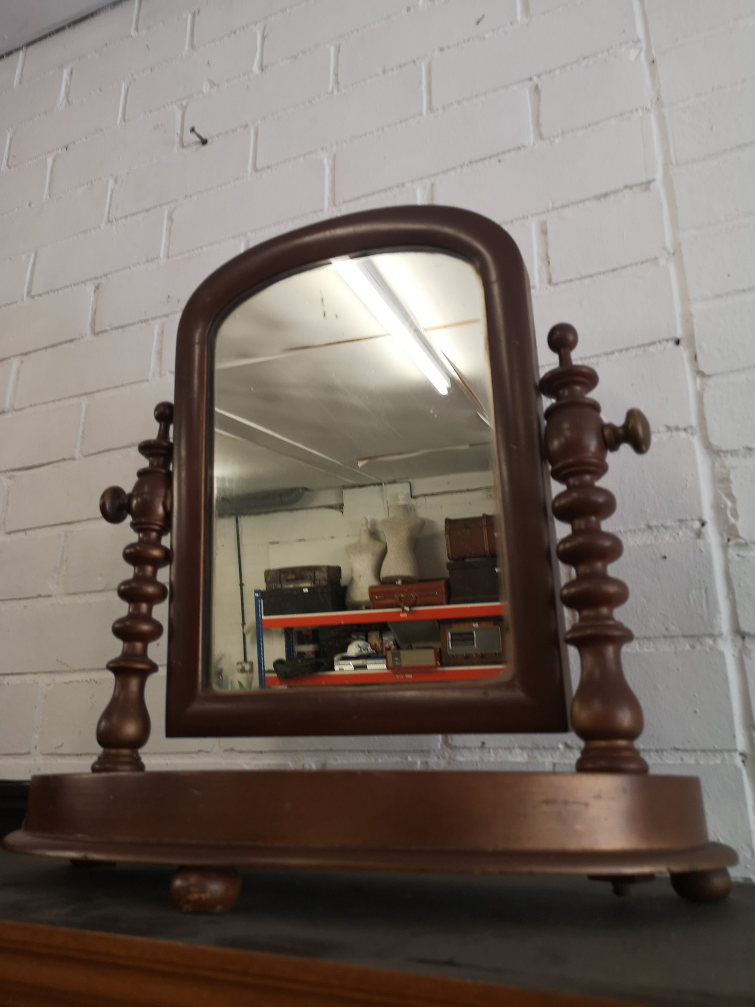 Victorian shaving mirror. - Image 2 of 2