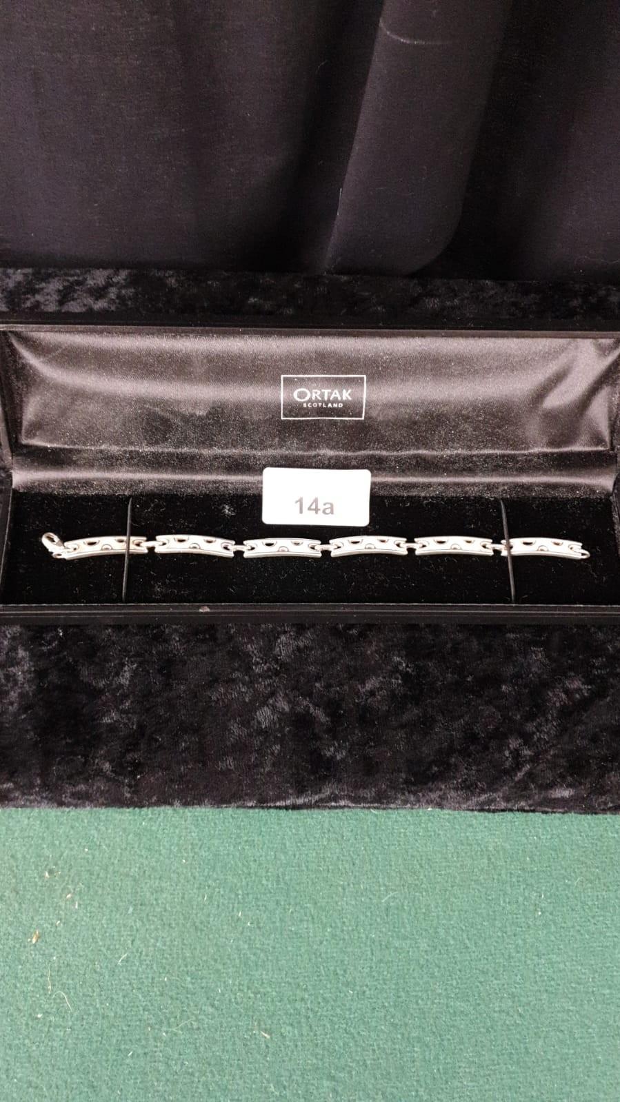 Ortak silver heavy Celtic bracelet . 7.5 inches long .