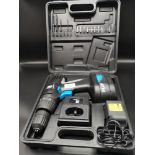 Boxed PB power drill with bits.