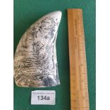 REPRODUCTION SCRIMSHAW STYLE ITEM .
