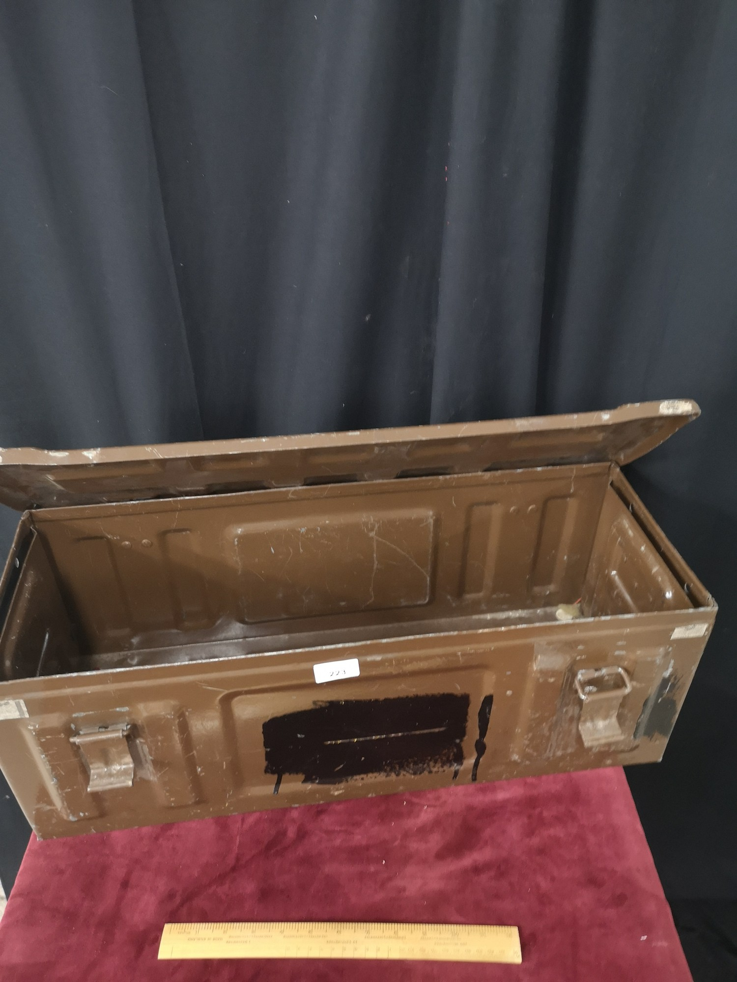 Military style ammo metal case. - Image 2 of 2