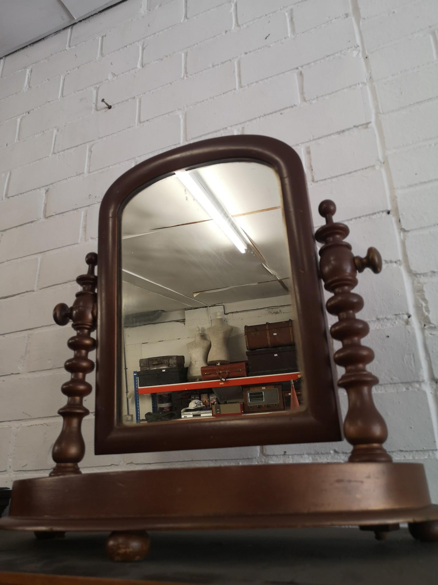 Victorian shaving mirror.