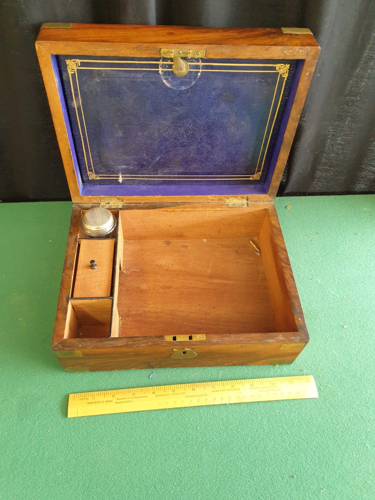Victorian Writing Box With Fitted Interior To Include Ink Well - Image 2 of 2