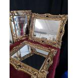 3 ornate mirrors.