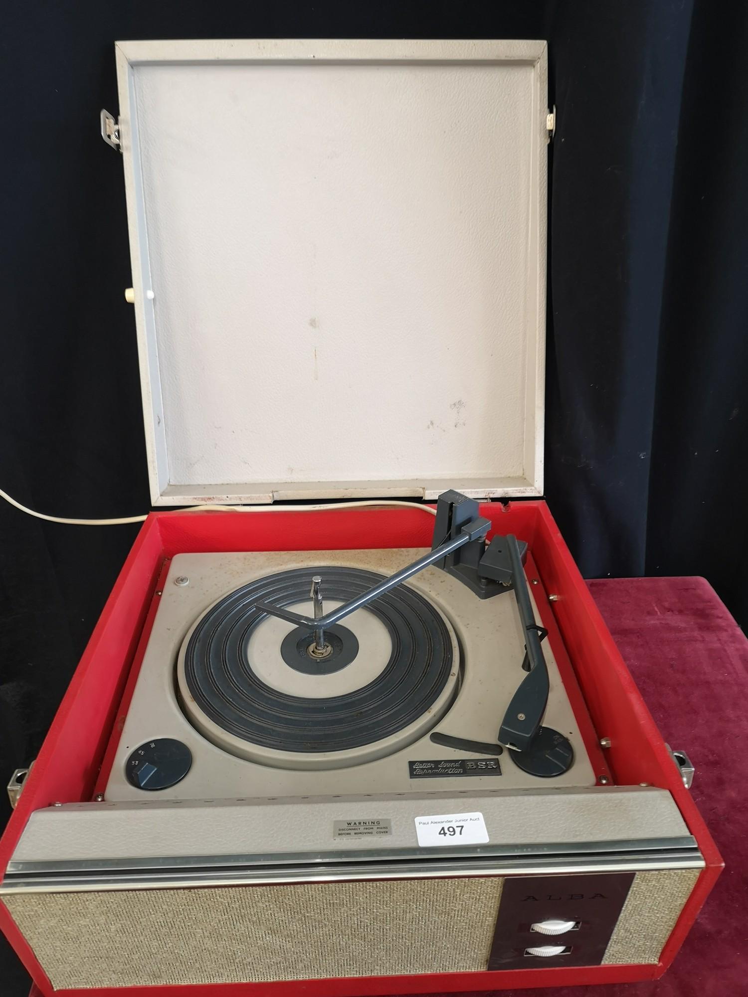 BSR vintage turntable. Turns on. - Image 2 of 2