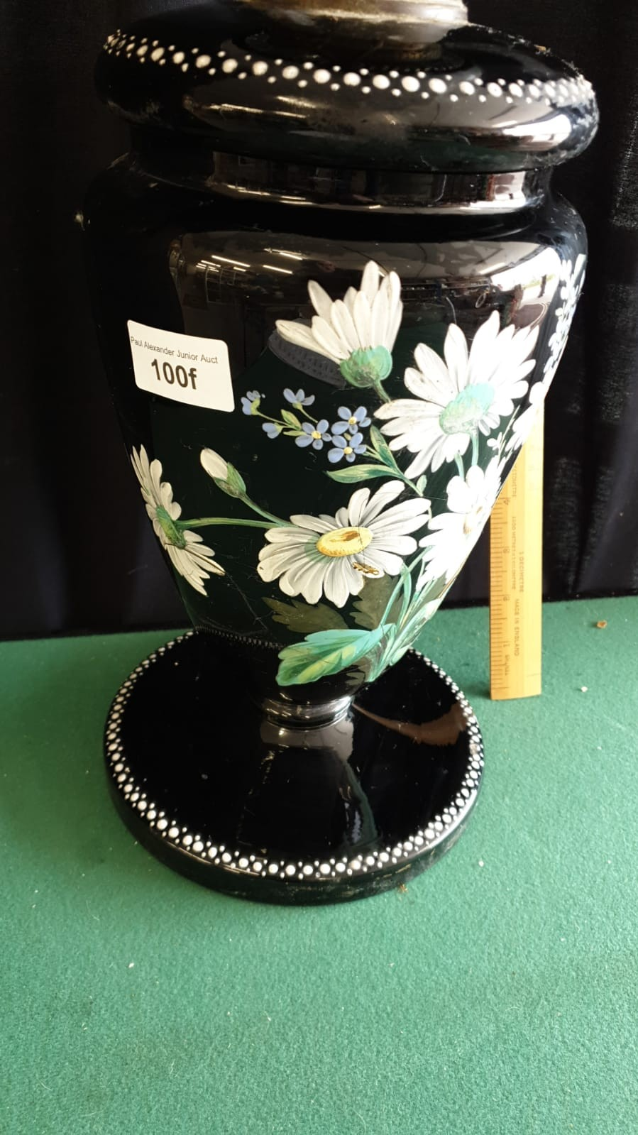 Large Victorian Oil Lamp With Hand Painted Floral Display With Lift Out Top 64cms Height - Image 2 of 4