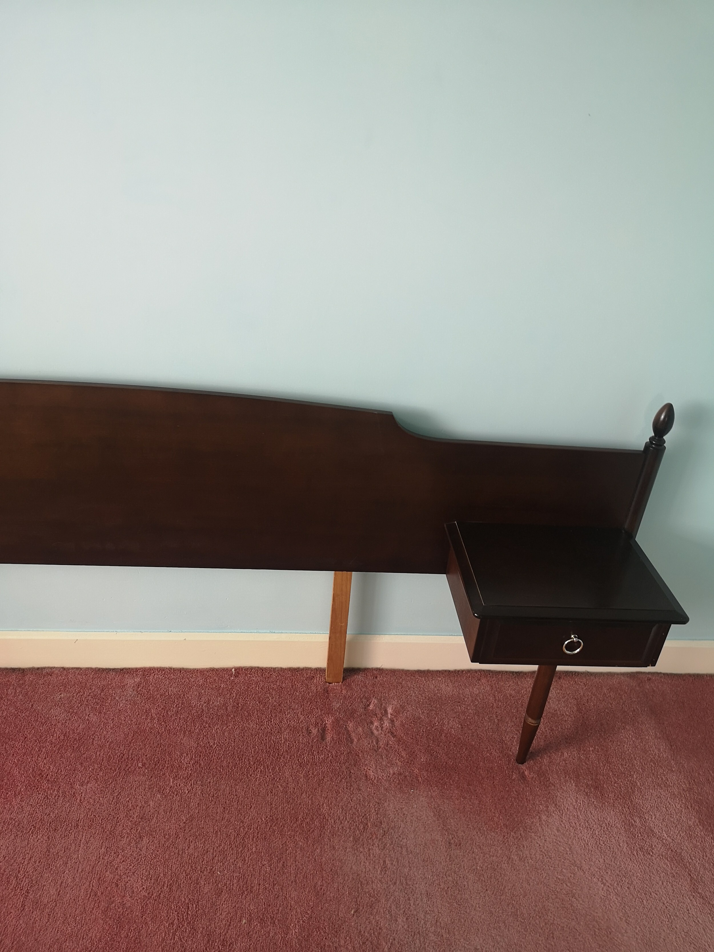 Stag minstrel head board with fitted cabinets. - Image 2 of 2