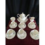 Royal Albert bridgadoon tea service with tea pot etc.