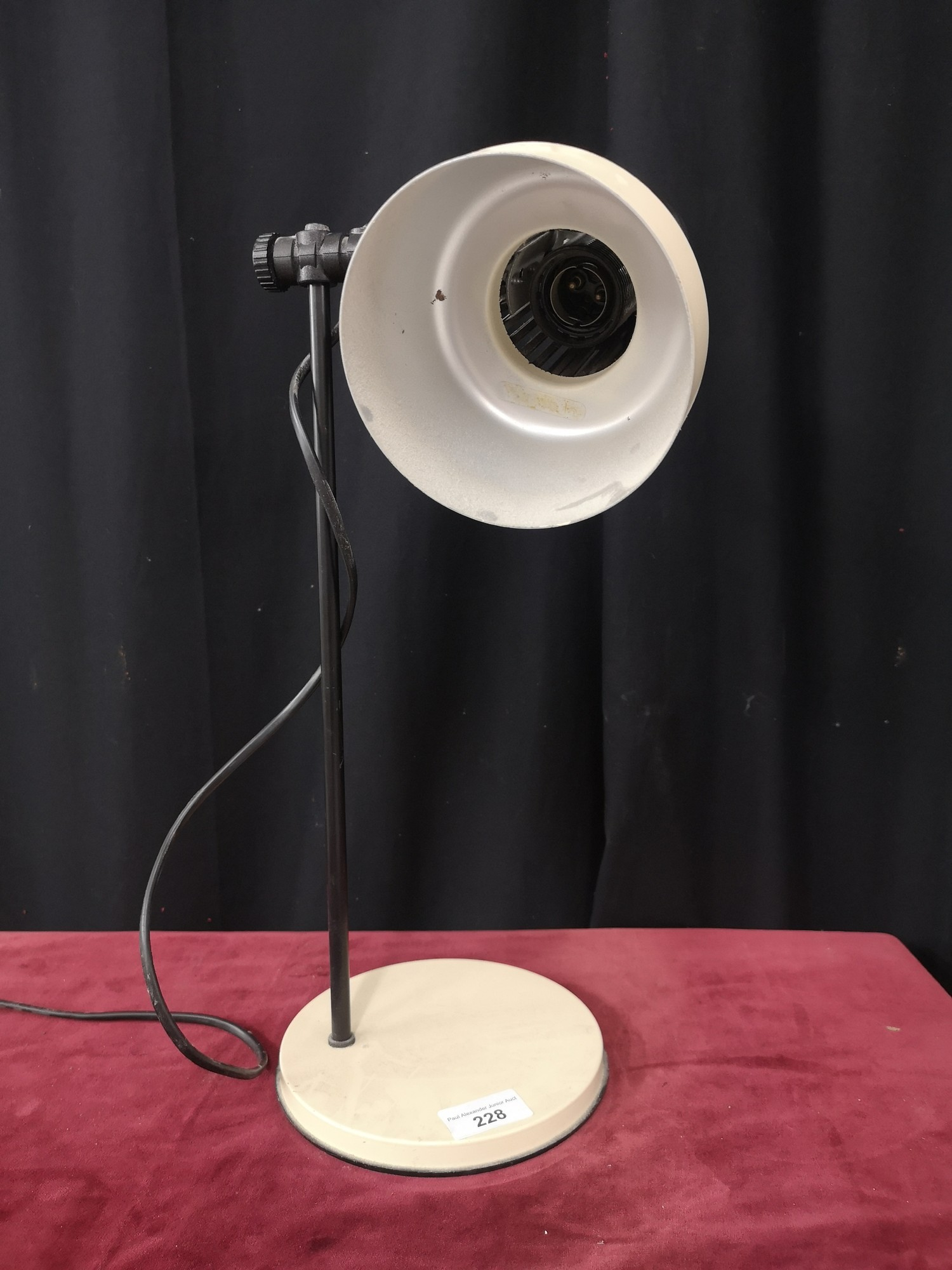 Retro 1970s angle poiste table lamp. - Image 2 of 2