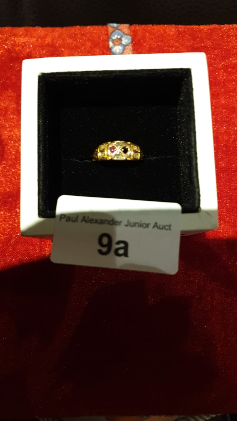 Victorian 15ct gold ring With Diamonds pearls and Ruby 1 Ruby missing 2.2g Beautiful ring.