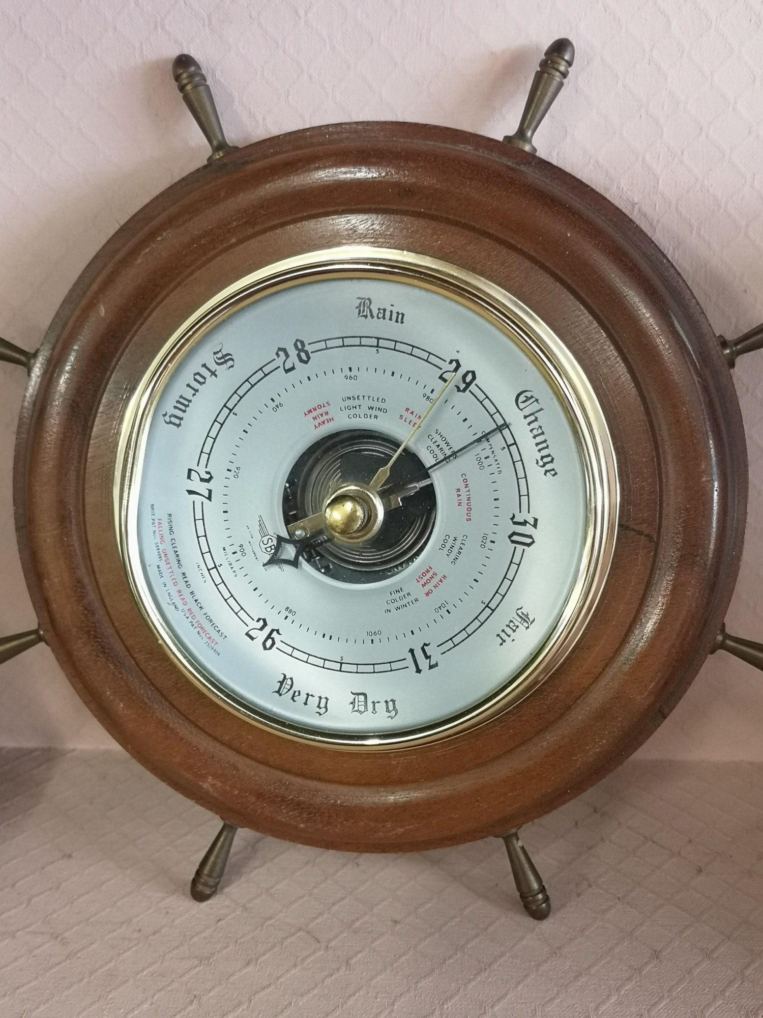 Lot of collectables includes barometer, royal doulton figure penny etc. - Image 2 of 6