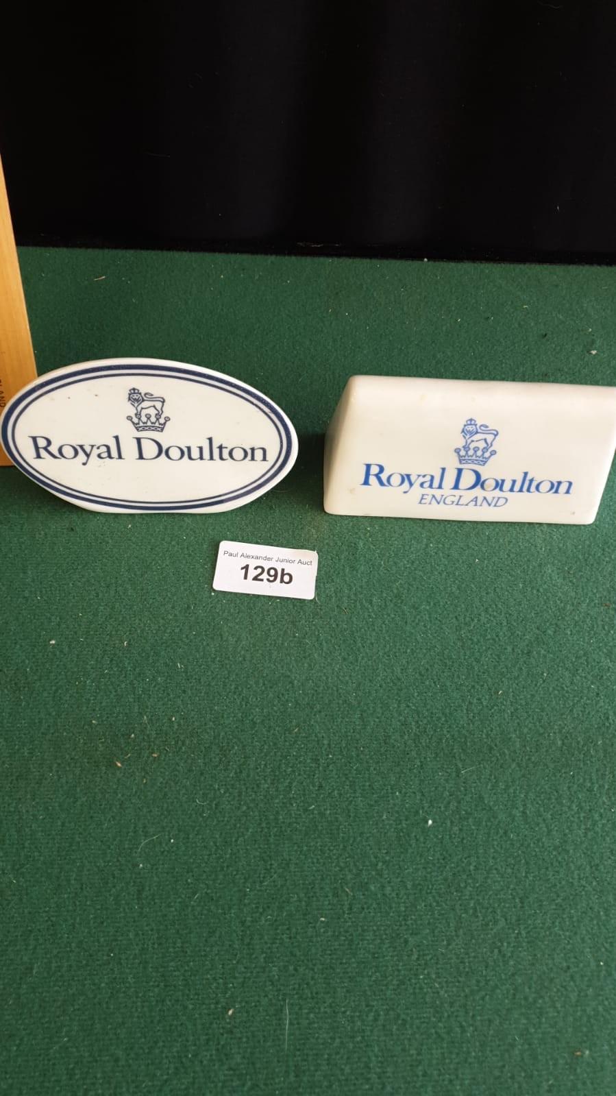 2 Vintage porcelain Royal doulton ceramic plaques.