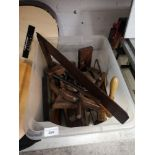 Box of quality wood working tools.