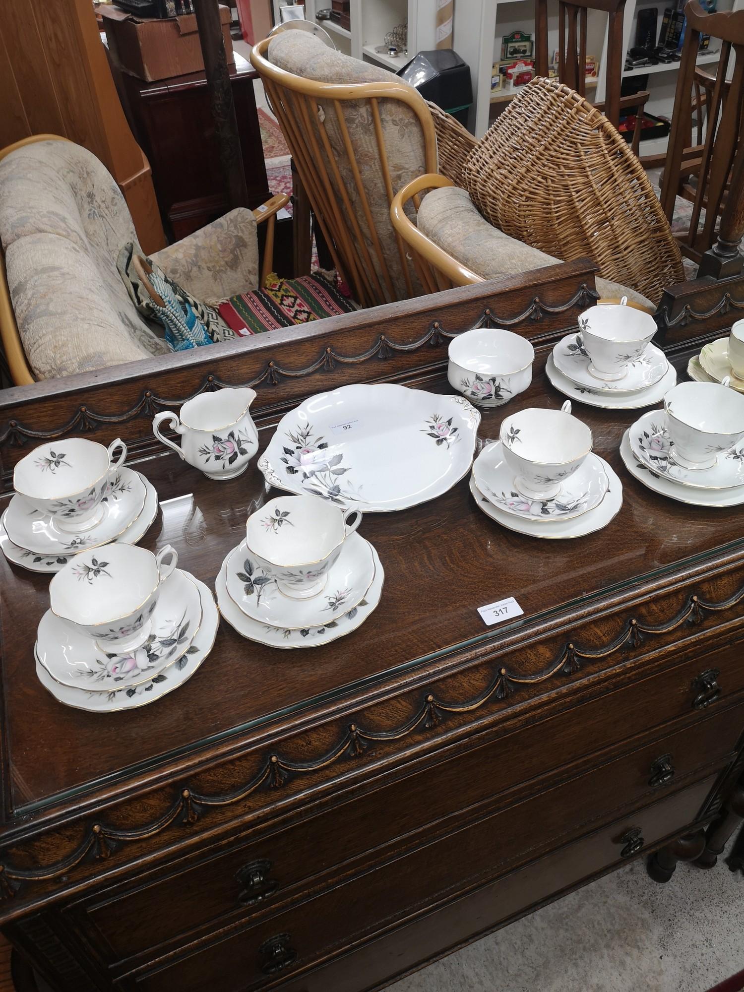 Royal Albert Queens messenger tea service.