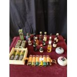 Lot of whisky miniature s includes clayva, Bruichladdich islay whisky miniature s together with ,